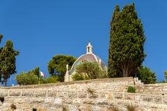Dominus Flevit Roman Catholic church on the Mount of Olives - Jerusalem, Israel. View of the Dominus Flevit Roman Catholic church on the Mount of Olives Royalty Free Stock Image