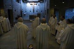 Dominus Tecum Monastery - Pra`d mill. Near Turin a Cistercense`s seclusion monastery open his spirituality to the pillgrims - the Mass Royalty Free Stock Photo