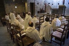 Dominus Tecum Monastery - Pra`d mill. Near Turin a Cistercense`s seclusion monastery open his spirituality to the pillgrims - the Mass Stock Photo