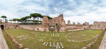 Domitian全景宫殿  免版税库存照片