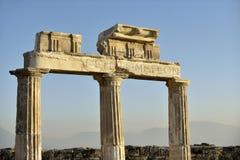 Domitian门在希拉波利斯 图库摄影