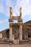Domitian Temple in Ephesus Turkey. Domitian Temple columns in the ancient city of Ephesus Royalty Free Stock Images