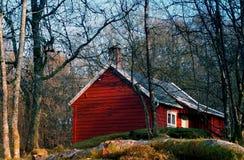 domki czerwony Zdjęcia Royalty Free