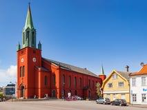 Domkirken i den Stavanger staden Royaltyfria Bilder