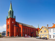 Domkirken in Stavanger city Royalty Free Stock Images