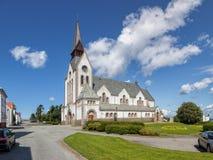Domkirken in Stavanger. St Johannes church was established in 1885 in Stavanger, Norway Royalty Free Stock Photo
