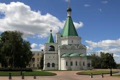 Domkyrka av ärkeängeln Michael som det finns en grav i av den ryska patrioten Kuzma Minin royaltyfria foton