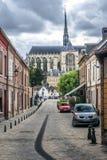Domkyrka av Amiens, Frankrike fotografering för bildbyråer