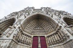 Domkyrka av Amiens, picardie, Frankrike Arkivfoton