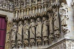 Domkyrka av Amiens, picardie, Frankrike Royaltyfria Bilder