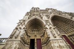 Domkyrka av Amiens, picardie, Frankrike Arkivbild