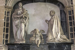Domkyrka av Amiens, picardie, Frankrike Arkivbilder