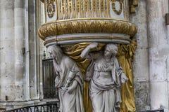 Domkyrka av Amiens, picardie, Frankrike Royaltyfri Foto