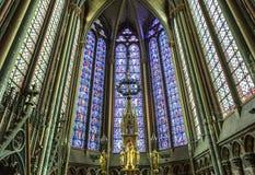 Domkyrka av Amiens, picardie, Frankrike Arkivfoto