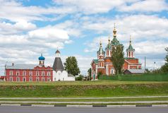 Domkyrka av antagandenunnekloster, stad Kolomna Arkivbilder