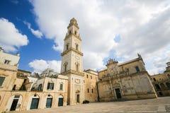 Domkyrka av antagandet av den jungfruliga Maryen i Lecce, Italien Royaltyfri Fotografi