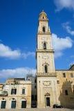 Domkyrka av antagandet av den jungfruliga Maryen i Lecce, Italien Arkivfoton