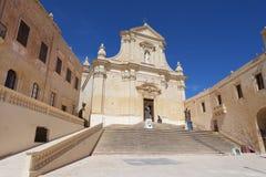 Domkyrka av antagandet i Cittadellaen av Victoria i Gozo Fotografering för Bildbyråer