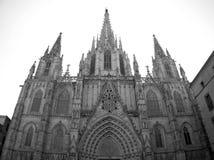 Domkyrka av Barcelona Arkivfoton