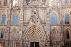 Domkyrka av Barcelona Seu Seo Royaltyfria Bilder