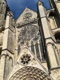 Domkyrka av Bourges, Frankrike fotografering för bildbyråer