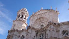 Domkyrka av Cadiz i Spanien arkivfilmer