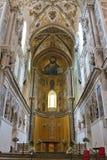 Domkyrka av Cefalà ¹ i Sicilien Fotografering för Bildbyråer