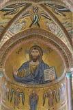 Domkyrka av Cefalà ¹ i Sicilien Arkivbilder