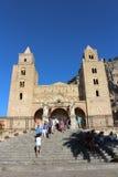 Domkyrka av Cefalà ¹ i Sicilien Arkivfoto