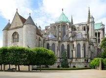 Domkyrka av Chartres Frankrike Royaltyfria Bilder