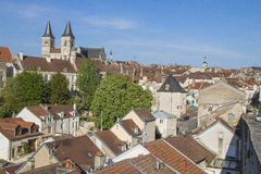 Domkyrka av Chaumont, Haute-Marne, Frankrike Fotografering för Bildbyråer