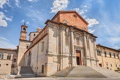 Domkyrka av Cittàdi Castello, Perugia, Umbria, Italien Royaltyfria Foton