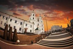 Domkyrka av den heliga anden i Minsk arkivbild