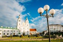 Domkyrka av den heliga anden i Minsk - den huvudsakliga ortodoxa kyrkan av Royaltyfri Fotografi