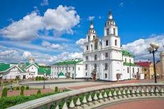 Domkyrka av den heliga anden i Minsk Huvudsaklig ortodox kyrka royaltyfri foto