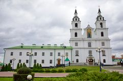 Domkyrka av den heliga anden i Minsk - kyrka av Vitryssland och symbol av huvudstad berömd landmark royaltyfri fotografi