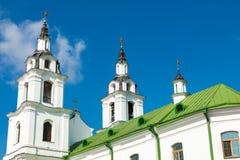 Domkyrka av den heliga anden i Minsk - kyrka av Vitryssland och symbolet royaltyfri fotografi