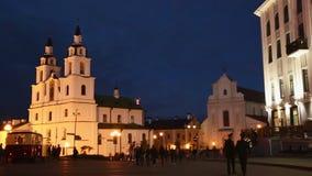 Domkyrka av den heliga anden Minsk, Vitryssland stock video