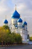 Domkyrka av den Iberian symbolen av modern av guden i Moskva Royaltyfria Foton