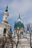 Domkyrka av den stora martyren Catherine Kingisepp Den ortodoxa kyrkan i Ryssland Royaltyfri Fotografi