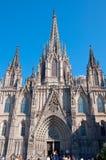 Domkyrka av det heliga korset och helgonet Eulalia. Barcelona Royaltyfria Bilder