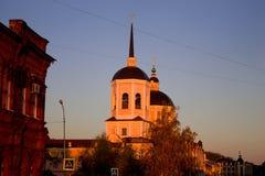 Domkyrka av epiphanyen i Tomsk royaltyfri bild