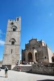 Domkyrka av Erice - Sicilien (Italien) Arkivfoto