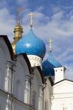 Domkyrka av förklaringen i kremlin, kazan, ryssfederation Arkivbilder