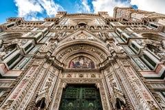 Domkyrka av Florence i Italien Arkivbilder