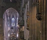 Domkyrka av Freiburg im Breisgau Arkivfoton