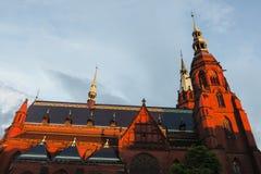 Domkyrka av helgon Peter och Paul i Legnica Arkivbild