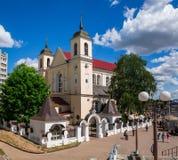 Domkyrka av helgon Peter och Paul, Minsk, Vitryssland Royaltyfri Fotografi