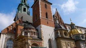Domkyrka av helgon Stanislaw och Vaclav Arkivfoto