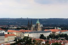 Domkyrka av helgon Vitus, Prague royaltyfri bild